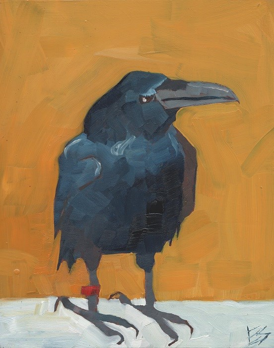 """Raven"" original fine art by Elizabeth See"