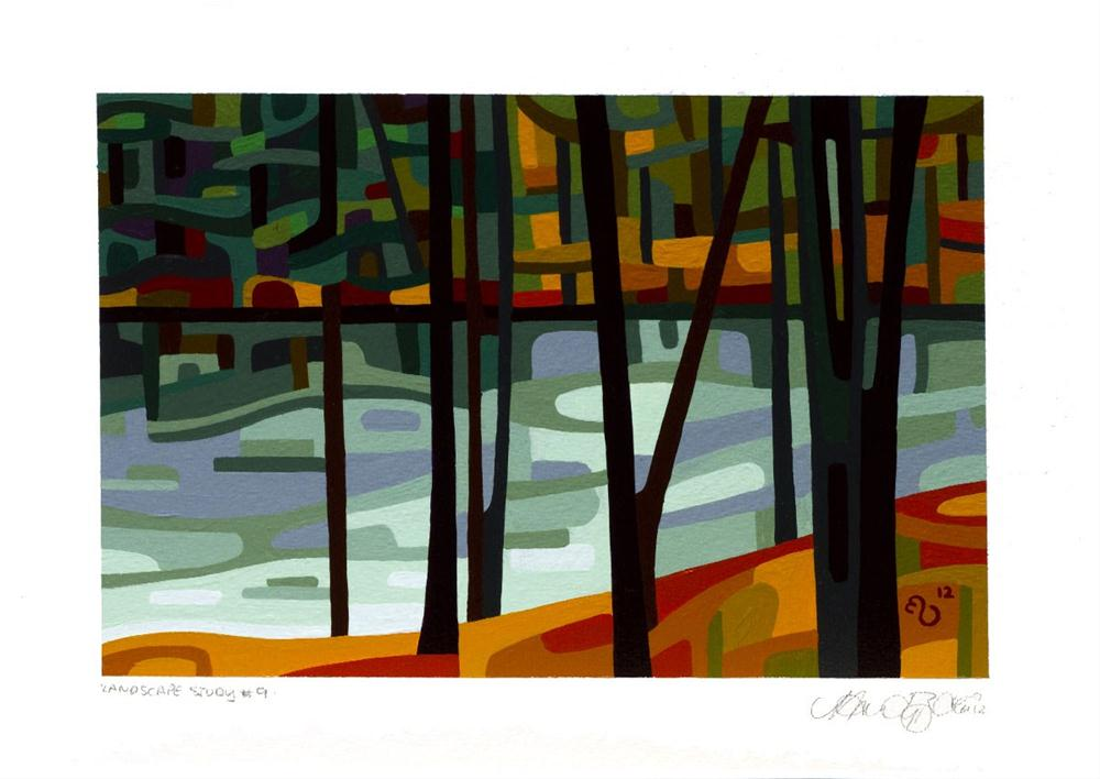 """Landscape Study #9"" original fine art by Mandy Budan"