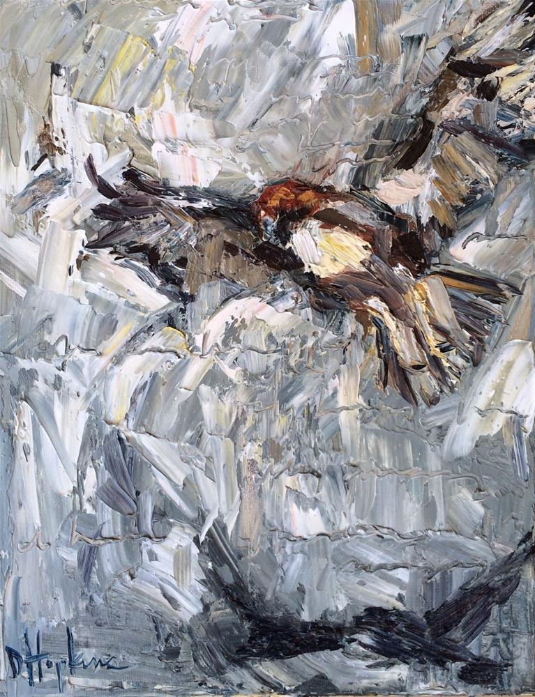 """shadow hawk"" original fine art by Denise Hopkins"