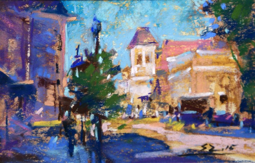 """Main Street"" original fine art by Sabrina Zhou"