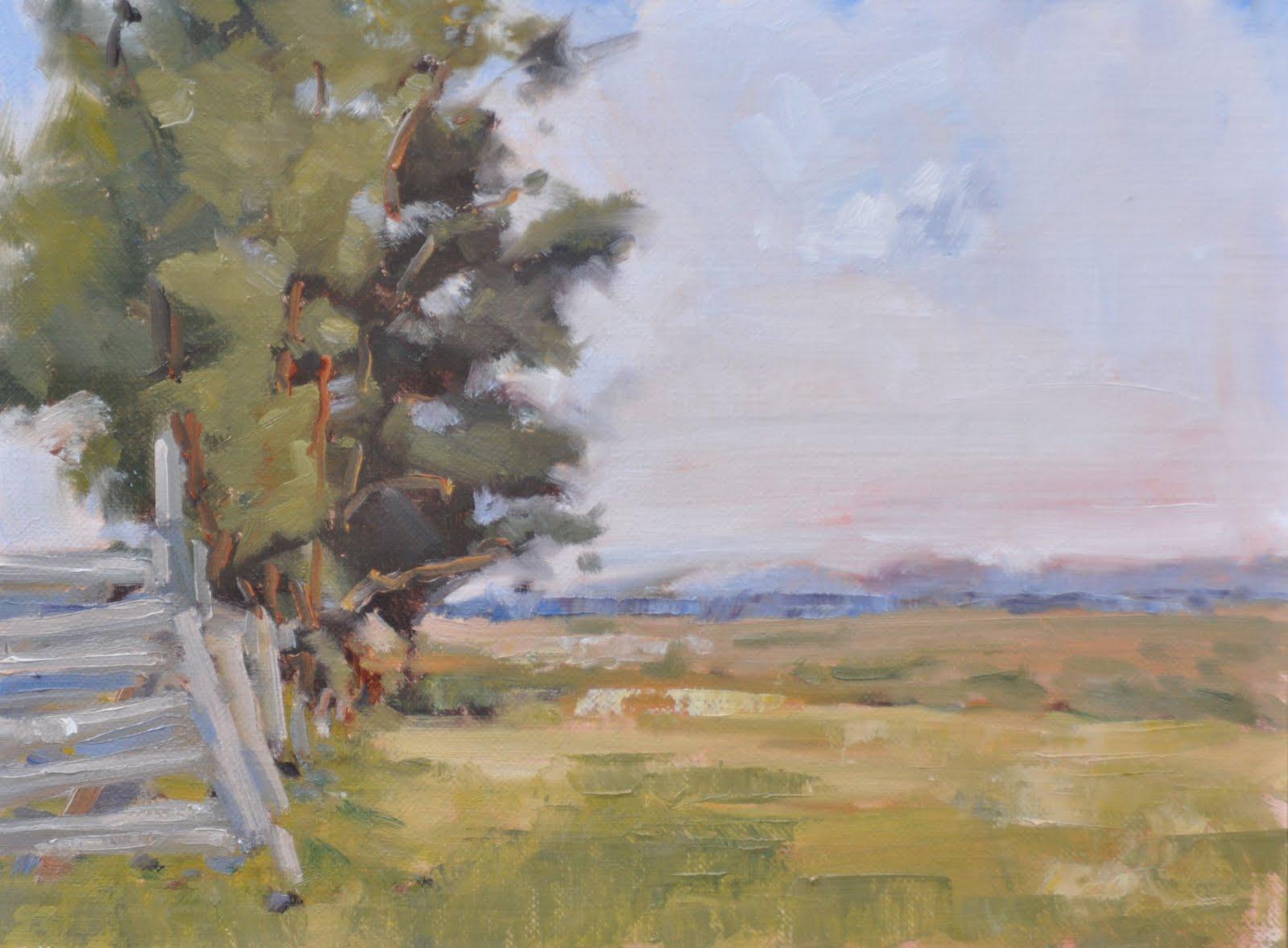 """Fenceline Grove"" original fine art by Julie Davis"