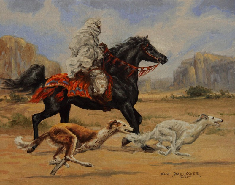 """""""Speed"""" original fine art by Sue Deutscher"""
