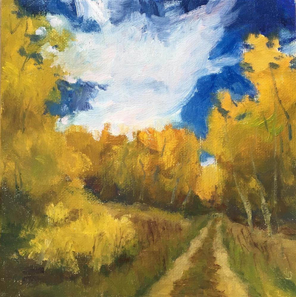 """Autumn Road"" original fine art by Victoria  Biedron"