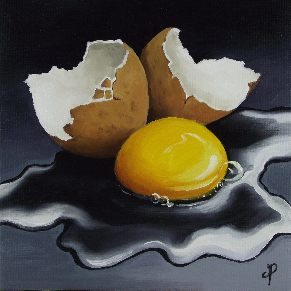 """Egg #5"" original fine art by Jane Palmer"