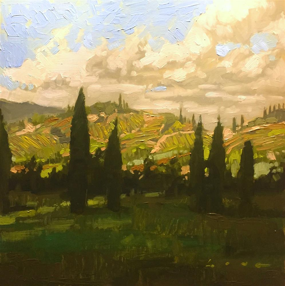 """Napa Valley I"" original fine art by Chris Long"