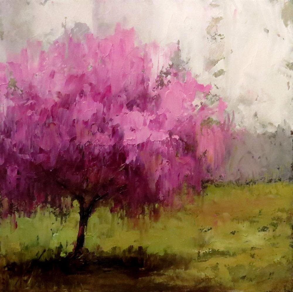 """Redbud Tree"" original fine art by Bob Kimball"