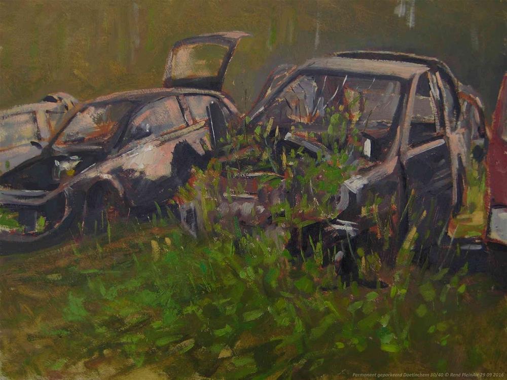 """Permanently Parked. Doetinchem, The Netherlands."" original fine art by René PleinAir"
