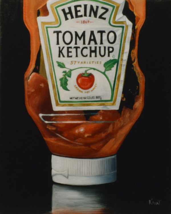 """Almost Out of Ketchup"" original fine art by Kim Testone"