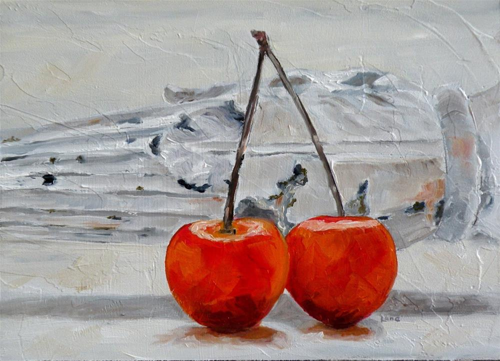 """CHERRY DUO ADDED TO ETSY TODAY © SAUNDRA LANE GALLOWAY"" original fine art by Saundra Lane Galloway"