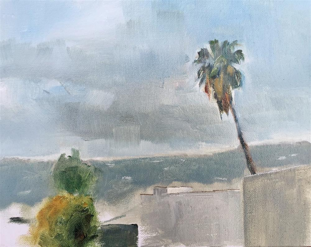 """Rooftop Study Facing West"" original fine art by Gary Bruton"