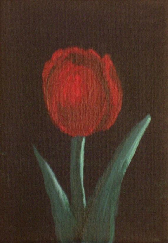 """Single Red Tulip"" original fine art by Amy VanGaasbeck"