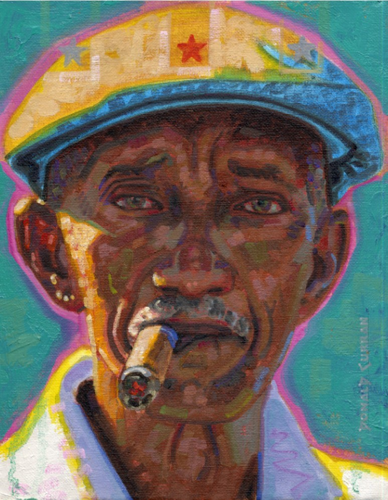 """MAN A HAVANA"" original fine art by Donald Curran"