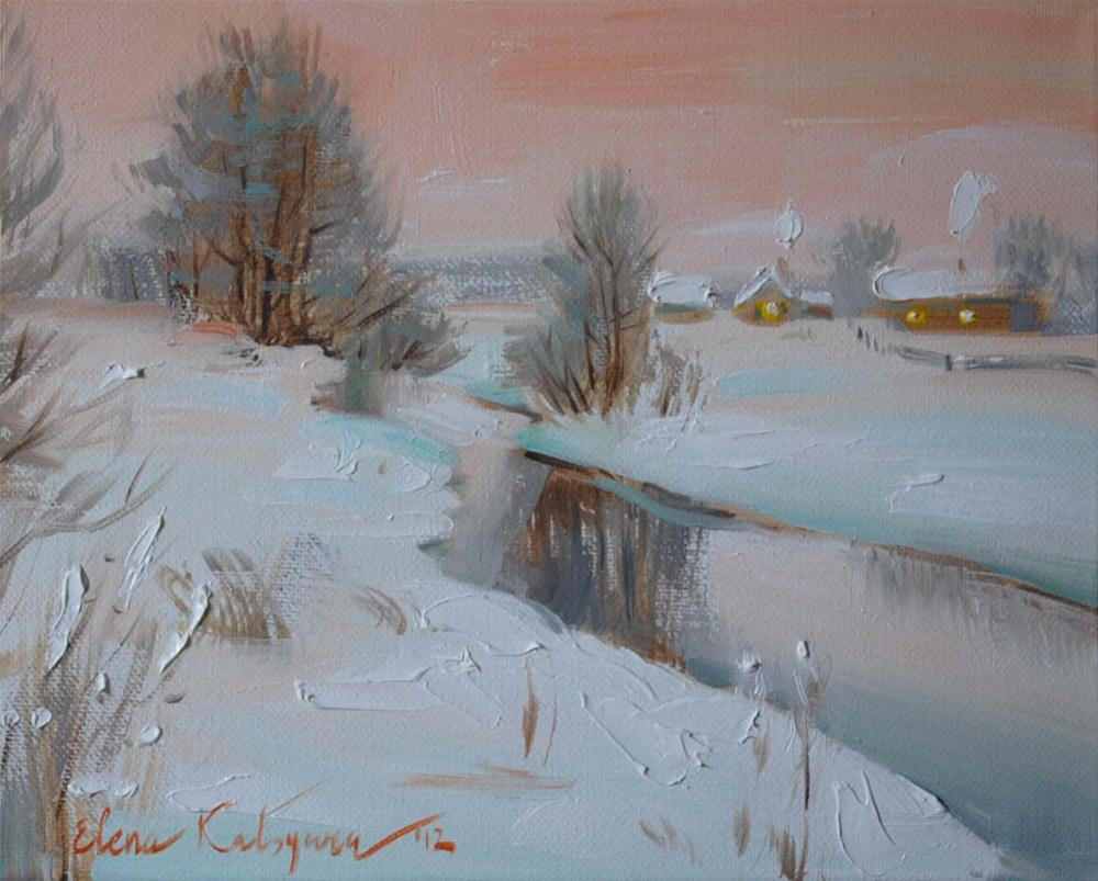 """A Winter Tale"" original fine art by Elena Katsyura"
