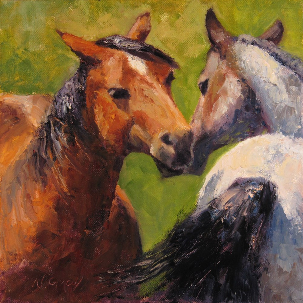 """Best Friends"" original fine art by Naomi Gray"