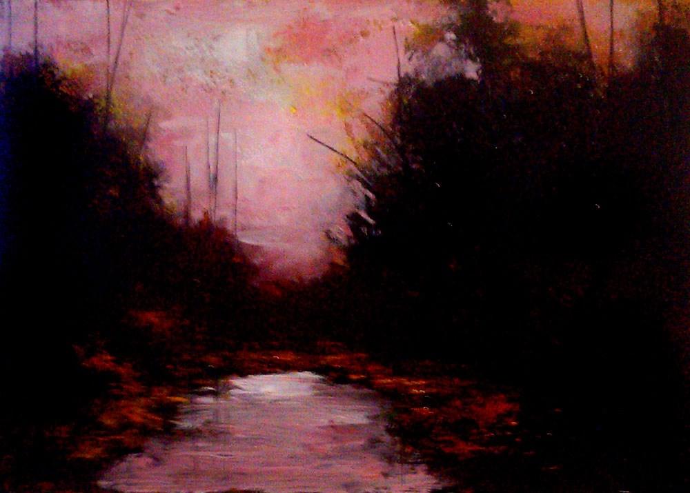 """Evening Cove"" original fine art by Bob Kimball"