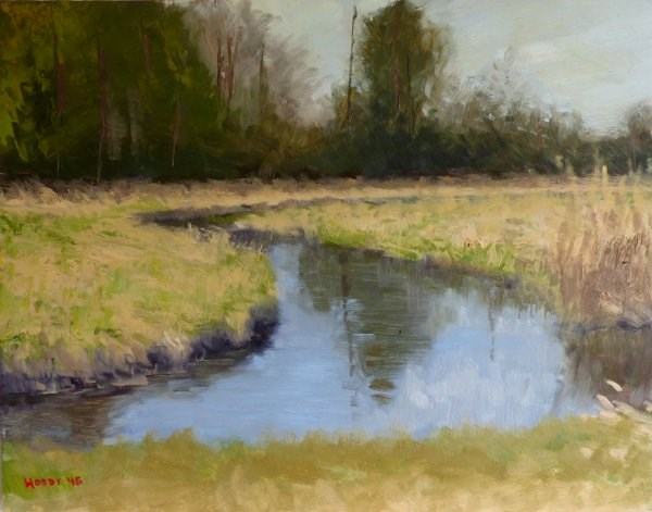 """Tributary 2"" original fine art by Weston Hobdy"