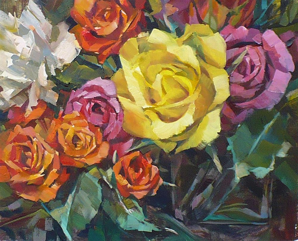 """Scottsdale Blush of Roses"" original fine art by Nicoletta Baumeister"
