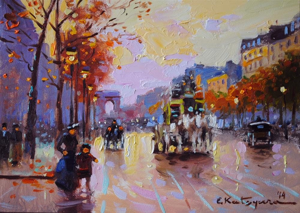 """Evening Walk"" original fine art by Elena Katsyura"