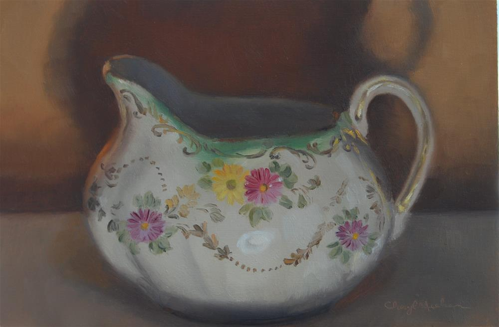 """Old Fashioned Creamer"" original fine art by Cheryl Meehan"