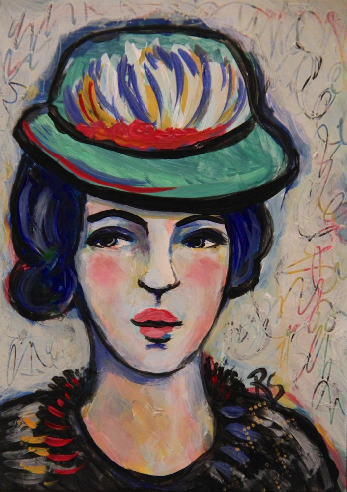 """Jacqueline"" original fine art by Roberta Schmidt"