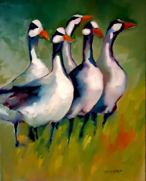 """Footgoose"" original fine art by Laurie Mueller"