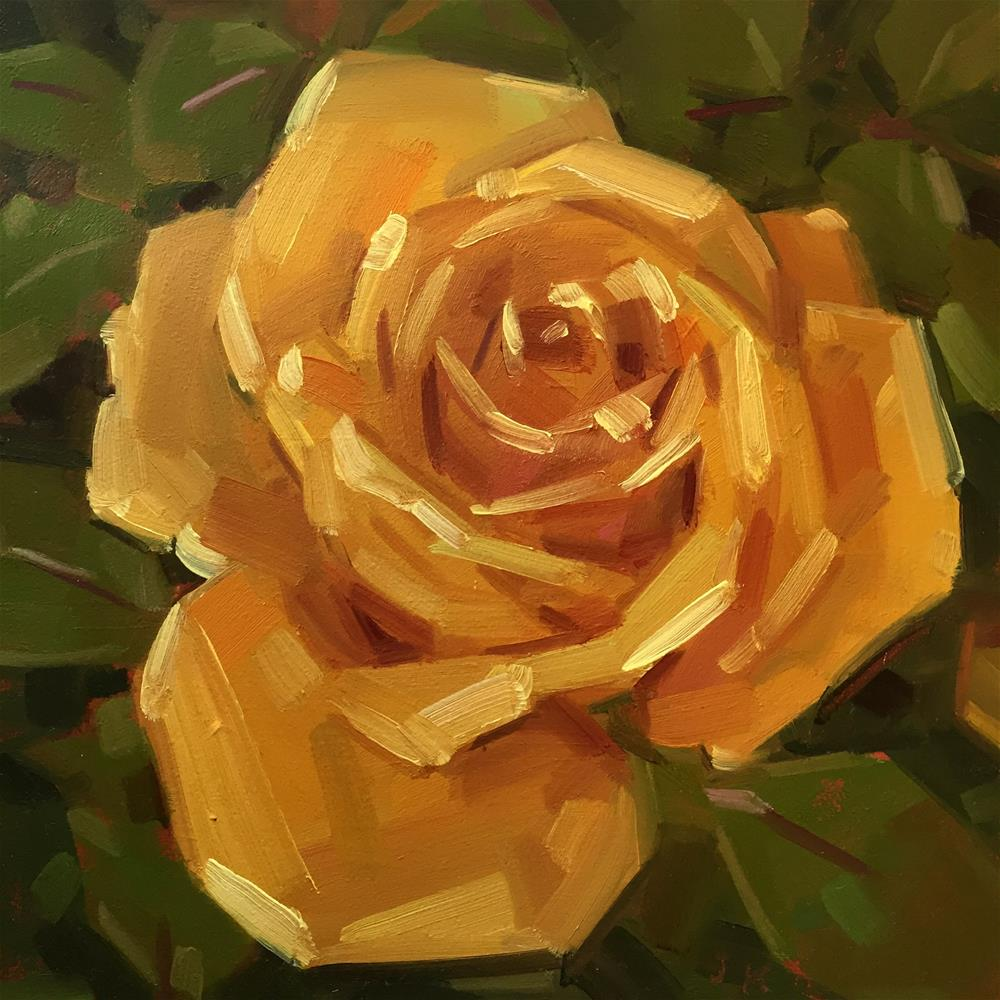 """Yellow Rose"" original fine art by Jiyoung Kim"