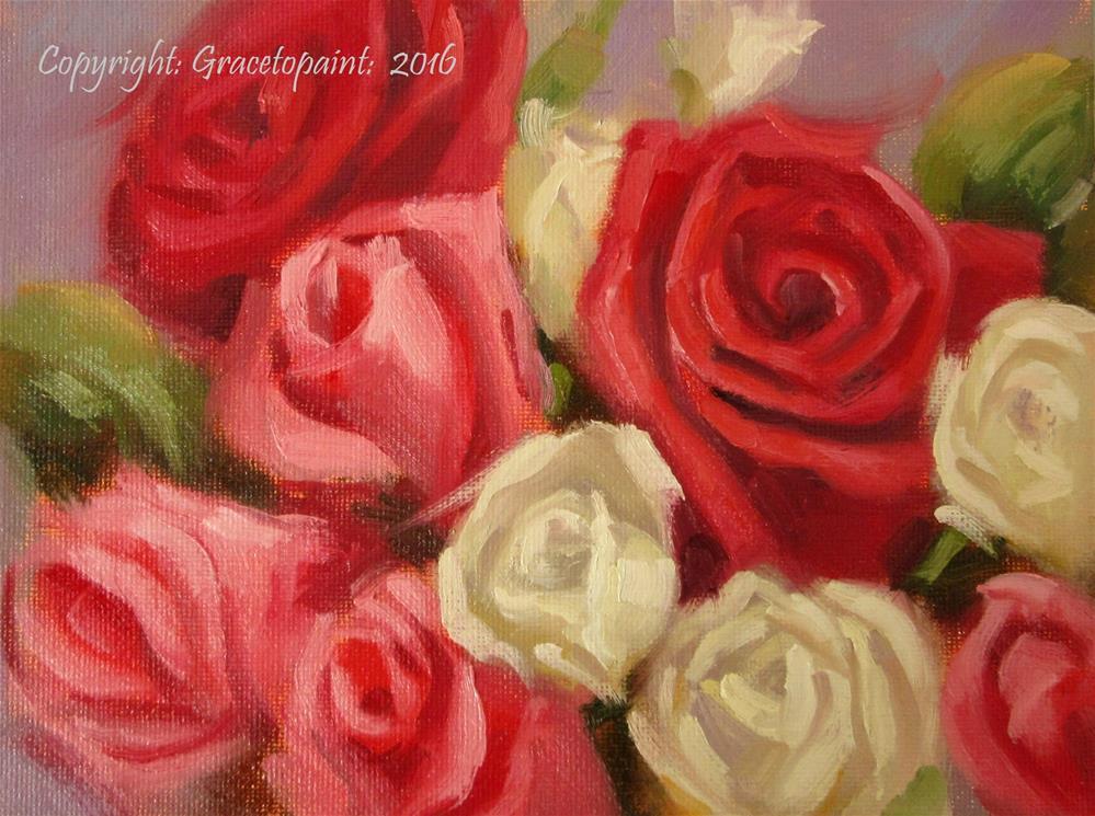 """""""Written Roses"""" original fine art by Maresa Lilley"""