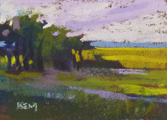 """Visit My Petite Pastel Corner...virtual studio tour"" original fine art by Karen Margulis"