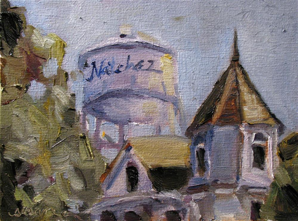 """Natchez Water Tower"" original fine art by Susan Elizabeth Jones"