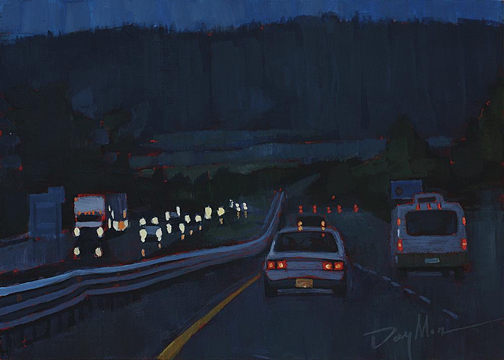 """Dusk"" original fine art by Mike Daymon"