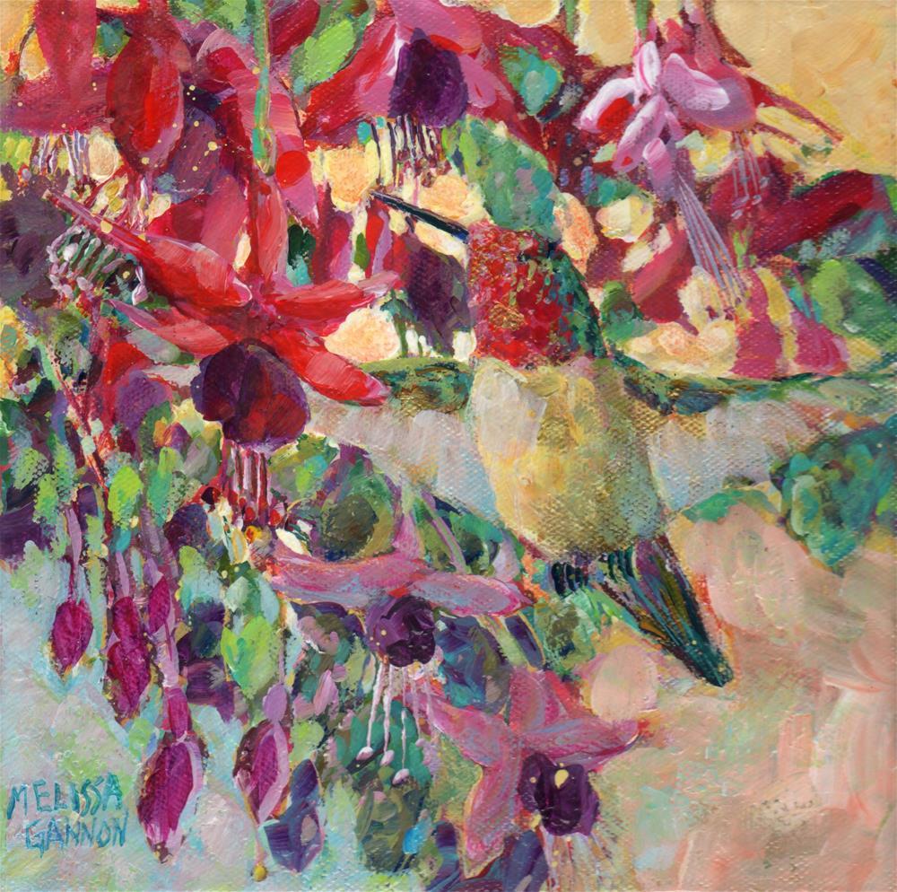 """""""Hummingbird Hover"""" original fine art by Melissa Gannon"""