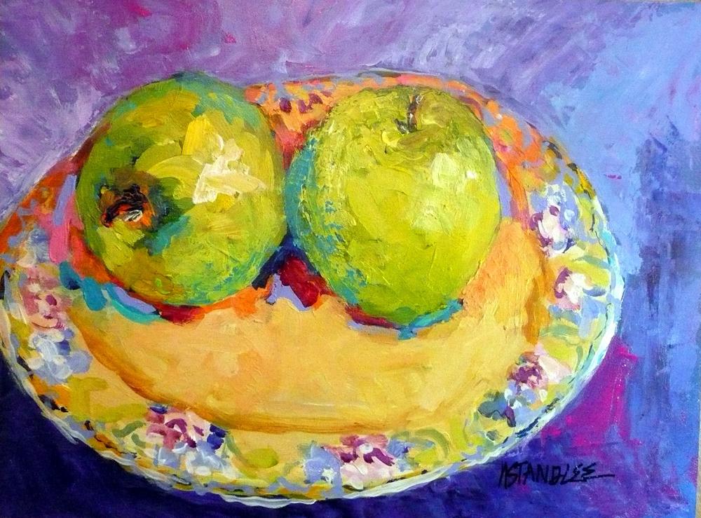 """Green Apples , 11019 SOLD"" original fine art by Nancy Standlee"