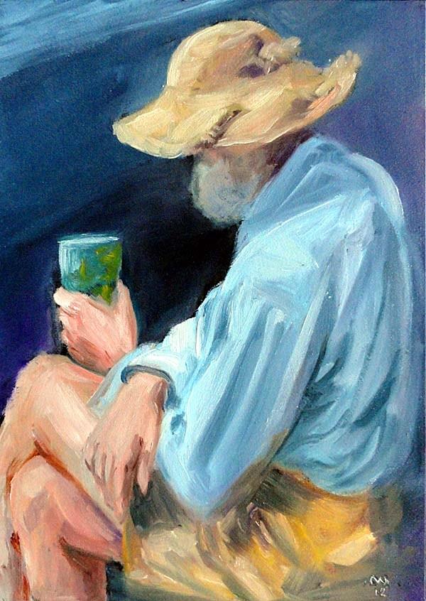 """""""Battered Straw Hat"""" original fine art by Cietha Wilson"""
