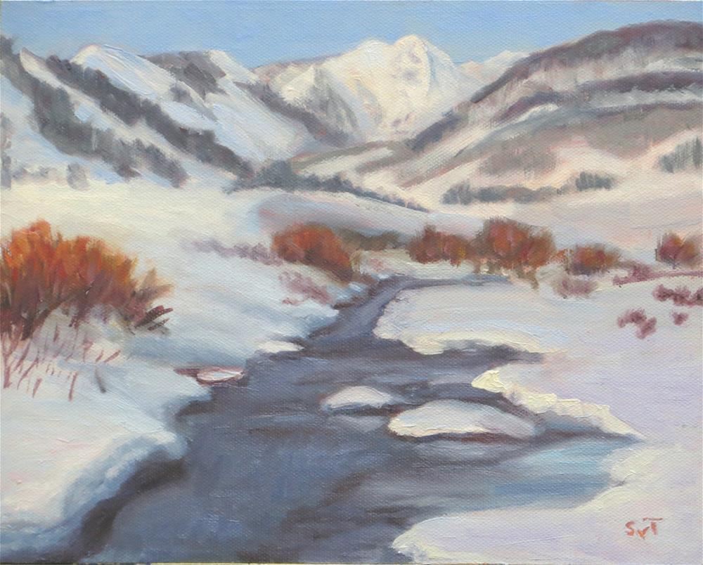 """Slate River Valley, Crested Butte, CO"" original fine art by Sue van Tonningen"