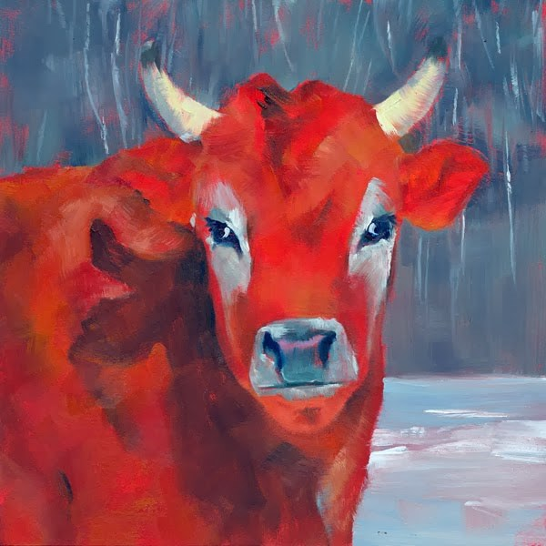 """Are You Lookin' at Me?"" original fine art by Brenda Ferguson"