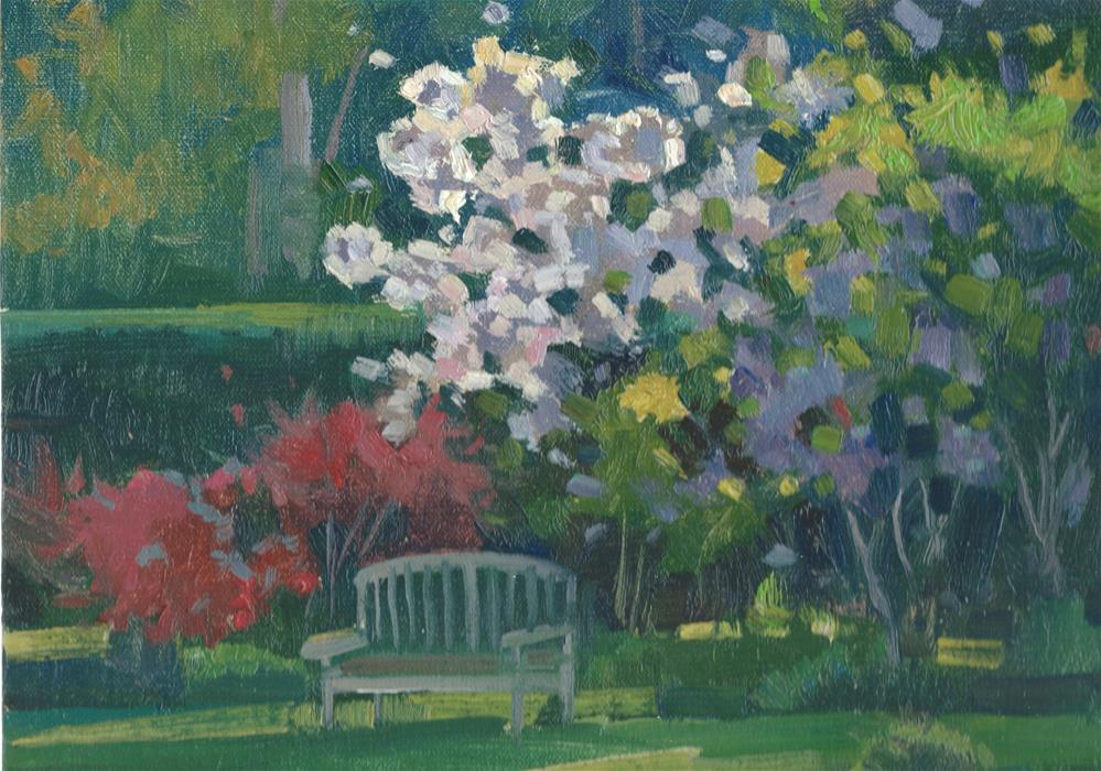 """Park Bench"" original fine art by J. Thomas soltesz"