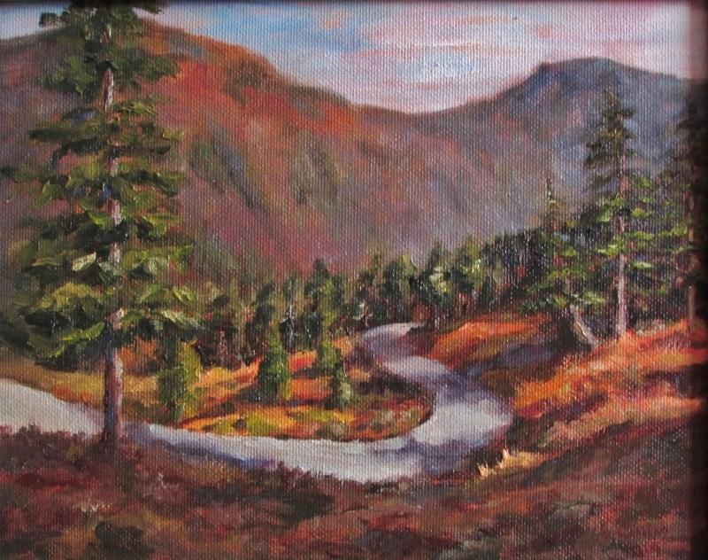 """Eagle Crest Hike"" original fine art by Christine Lewis"