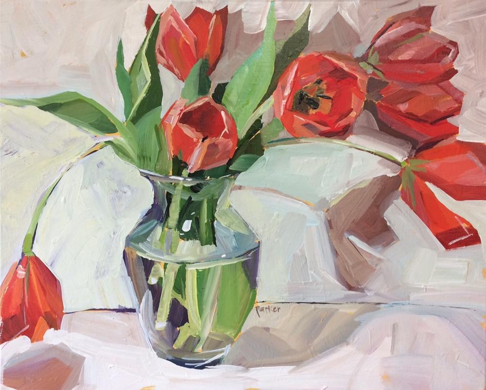 """Tulip Acrobats"" original fine art by Teddi Parker"