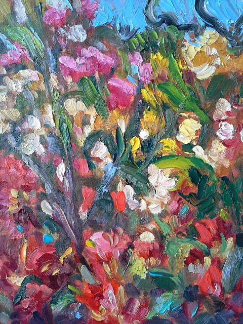 """""""Beacon Hill Park Rhododendrons"""" original fine art by Darlene Young"""
