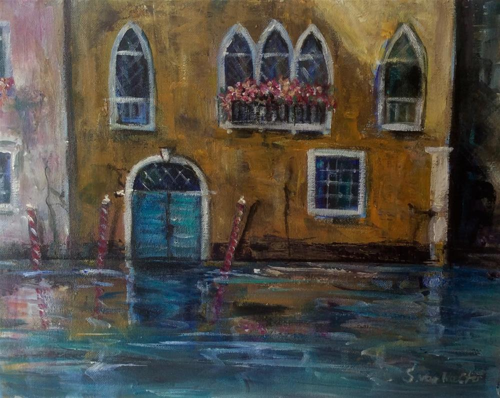 """Evening in Venice"" original fine art by Sonia von Walter"