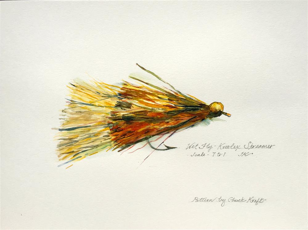 """Wet Fly - Kreelex Streamer"" original fine art by jean krueger"
