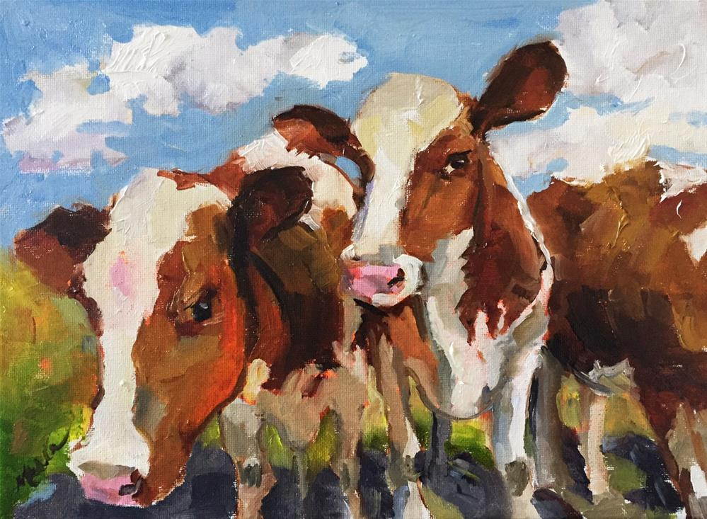"""Cow Girls"" original fine art by Marcia Hodges"