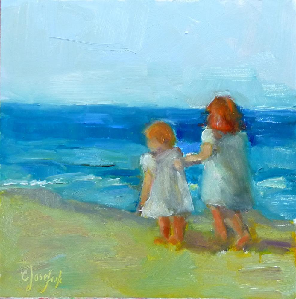 """Walk on the Beach"" original fine art by Carol Josefiak"