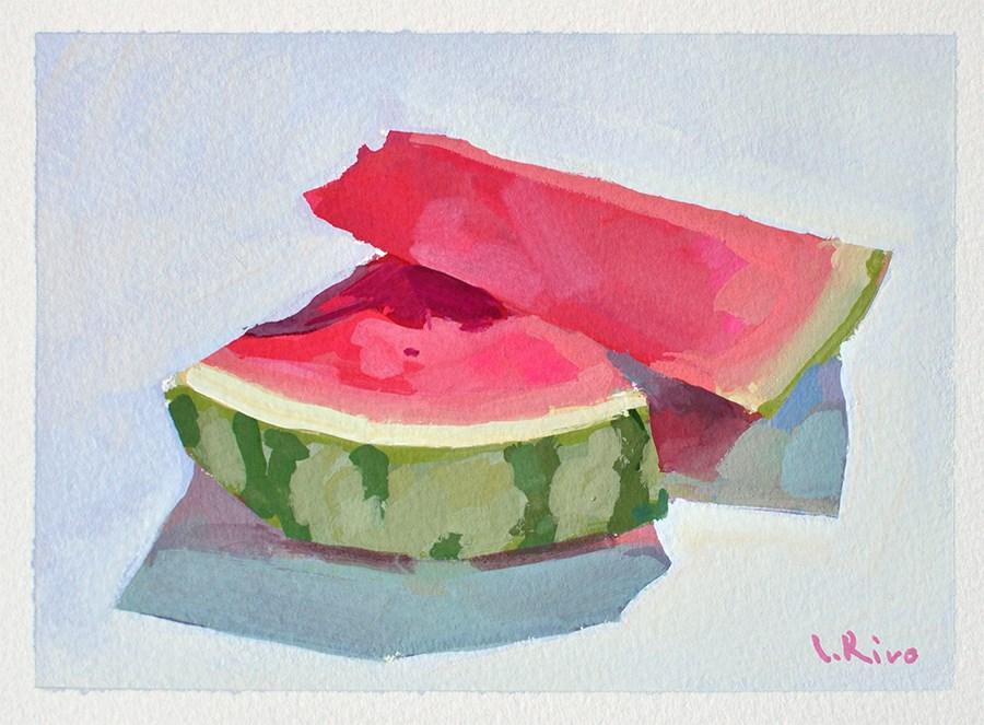 """""""Juicy Slices"""" original fine art by Lena  Rivo"""