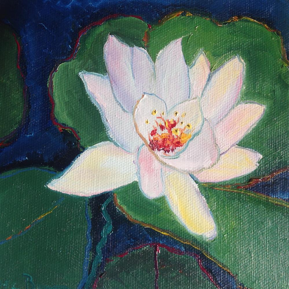 """Dark Water Lily"" original fine art by Rose Brenner"