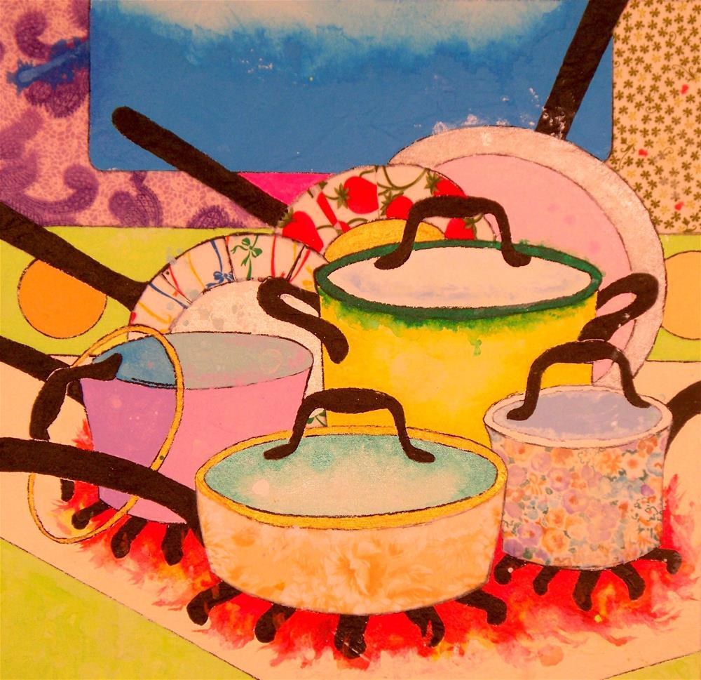 """New Cookware"" original fine art by Lisa Fulton"