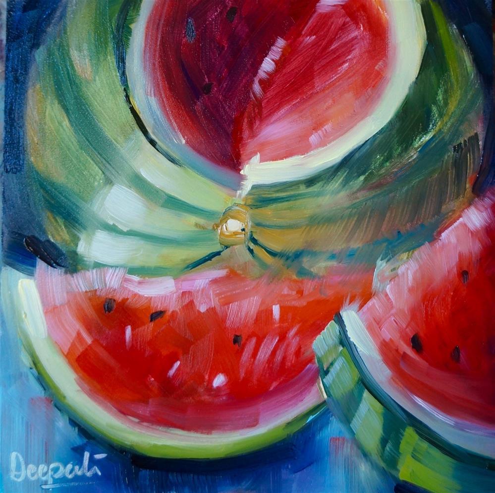 """watermelon"" original fine art by Dipali Rabadiya"