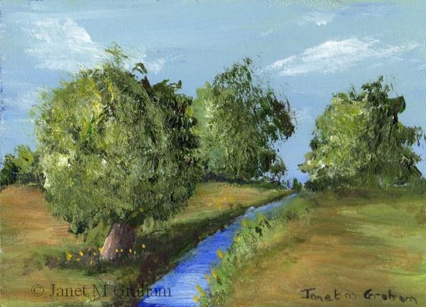 """""""Summer Fields ACEO"""" original fine art by Janet Graham"""