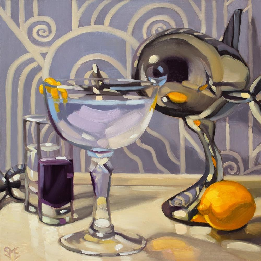 """Aviation & Mixology Book Release"" original fine art by Sheila Evans"