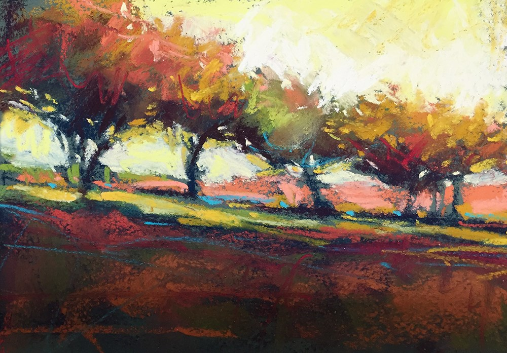 """Dancing in Fall"" original fine art by Marla Baggetta"